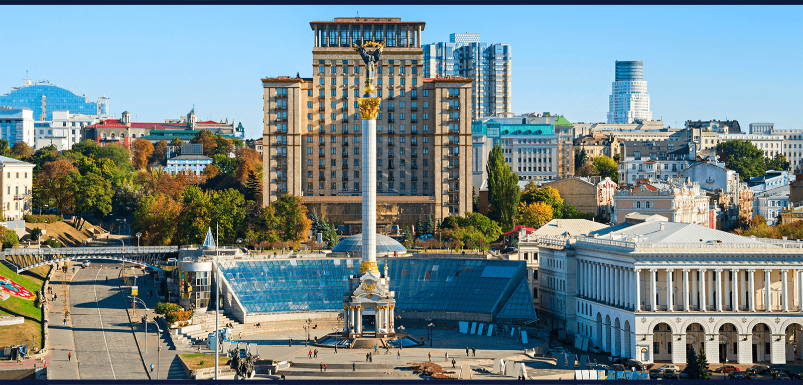 Protect Banner - image of Ukraine city view